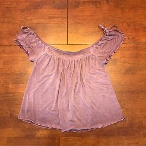 Lavender Off the Shoulder Top from AEO